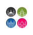 mosque icon mosque muslim islamic symbol vector image vector image