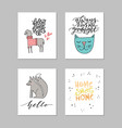 nursery art collection vector image vector image