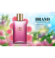 perfume ads realistic style perfume in a glass vector image