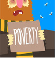 poverty social problem help to homeless people vector image