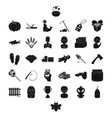 Profession food and other web icon in black style