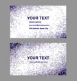 Purple triangle mosaic business card design vector image vector image