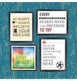 Quotes motivation frame vector image