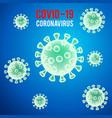 realistic 3d coronavirus virion virus background vector image
