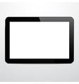 Realistic horizontal black tablet pc vector image