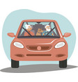 retired tourists on a road trip vector image