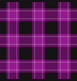 seamless black purple tartan with white stripes vector image vector image