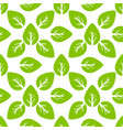 seamless foliage pattern green leaf vector image
