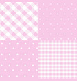 seamless patterns for baby girl shower party vector image vector image