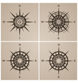 set of compass roses or windroses vector image vector image