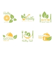 Set of Organic and Natural Food Labels vector image vector image