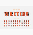 shadow and line font alphabet writing style vector image