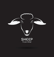 Sheep head design vector image
