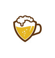 shield beer logo icon design vector image