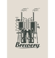 sign for the brewery vector image vector image