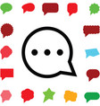 speech bubble icon vector image vector image