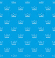 steel crown pattern seamless blue vector image vector image