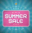 Summer Sale Paper Title on Abstract Blue vector image vector image