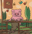 The sign og the china horoscop pig vector image