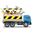 Toolbox and Truck vector image vector image
