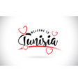 tunisia welcome to word text with handwritten vector image