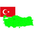 turkey map and flag set vector image vector image