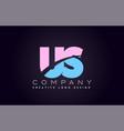 us alphabet letter join joined letter logo design vector image vector image