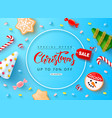 web banner for christmas sale holiday background vector image
