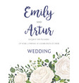 Wedding floral invite card design with flowers