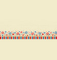 wooden web banner with elements american