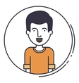 young man avatar isolated icon vector image