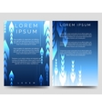 Abstract blue brochure template with arrows vector image