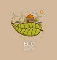 eco earth vector image