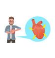 3d flat conceptual heart vector image