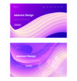 abstract geometric wave shape landing page vector image