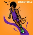 Afro Basketball Player vector image vector image