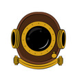 antique diving helmet vector image