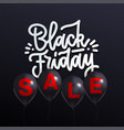 black friday sale poster with realistic vector image vector image