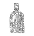 bottle black and white coloring book vector image
