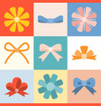 bow and ribbon collection vector image vector image