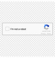 captcha icon vector image