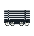 cargo wagon train vector image