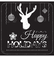 Christmas card on the chalkboard vector image vector image