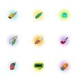 Cigarette icons set pop-art style vector image vector image