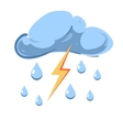 cloud with falling rain and striking vector image vector image