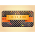 Colorful gift card vector image