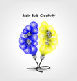 colorful light bulb logo design and creative vector image vector image