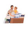 cute gay couple shopping together homosexual vector image vector image