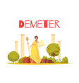 demeter cartoon composition vector image vector image