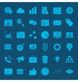 Development Web Glyphs Icons vector image vector image